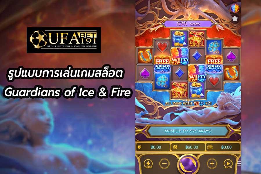 รูปแบบการเล่นเกมสล็อต Guardians of Ice & Fire