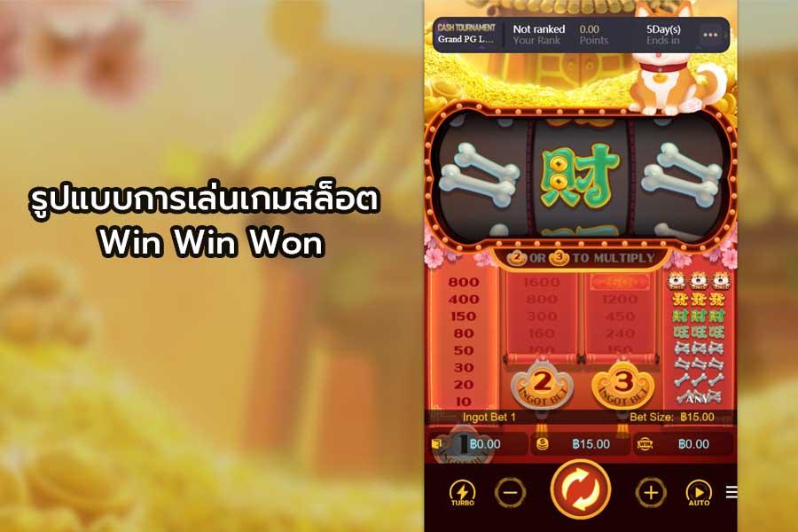 รูปแบบการเล่นเกมสล็อต Win Win Won